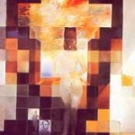 """Im Bild """"Gala betrachtet das Mittelmeer"""" von Salvador Dali kann die Intuition ein Muster des Gesichts von Abraham Lincoln wahrnehmen, wenn Sie die Augen ein wenig zusammen kneifen. Siehe auch http://www.michaelbach.de/ot/fcs_mosaic/index-de.html"""
